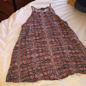 Patterned Trapeze Dress